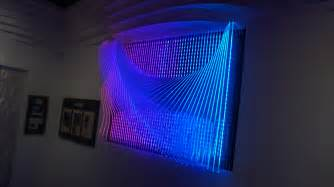 clear acrylic sculptural led 3d wall panel by
