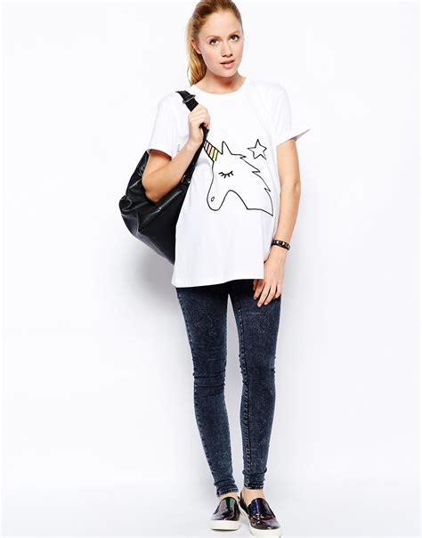 casual clothing for casual wear for pregnant women with unicon print buy