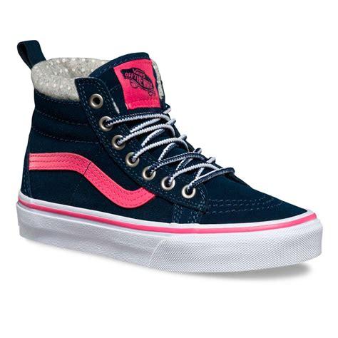 Vans Navy Pink Wam winter shoes vans sk8 hi mte navy pink snowboard zezula