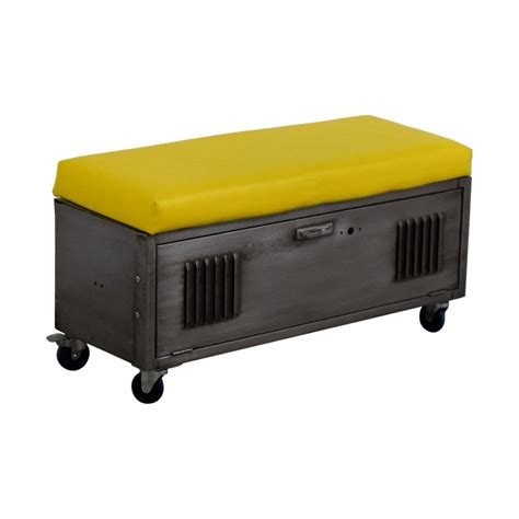bench on casters 64 off custom metal locker base bench on casters with