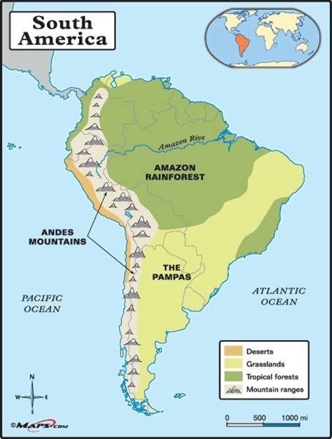 america map of mountains in the andes moutains smore