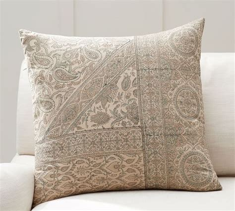 pottery barn bed pillows viola block print pillow cover pottery barn