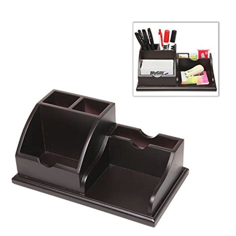 Mygift Wooden Desk Top Office Supply Organizer Caddy Desk Supplies Organizer