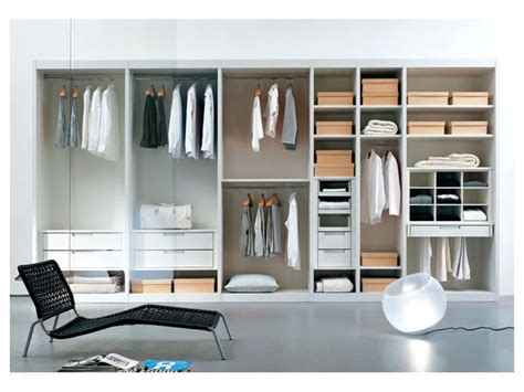 Wardrobe Space Saving Ideas by Walk In Closet With Shelves And Glass Doors Idfdesign