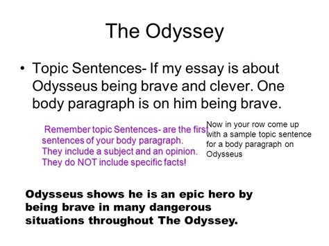 The Odyssey Essay Topics by A Hook For An Essay On The Odyssey The Odyssey Essay The Introduction Ppt