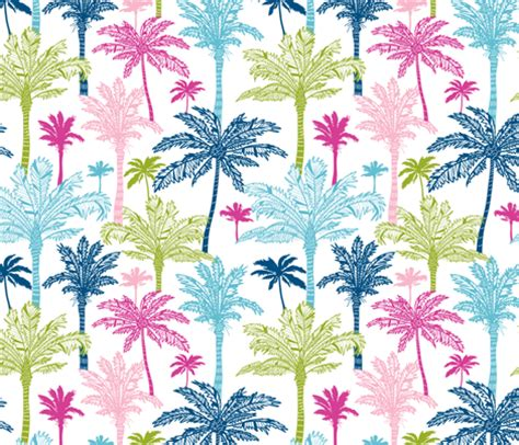 colorful palm trees fabric oksancia spoonflower