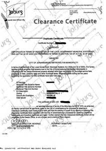 municipal rates taxes clearance certificate municipal