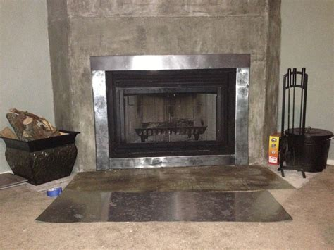 metal fireplace surrounds sheet metal fireplace surround fireplace design ideas