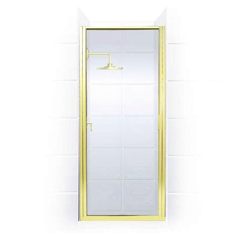 Gold Shower Doors Coastal Shower Doors Paragon Series 26 In X 65 In Framed Continuous Hinged Shower Door In Gold
