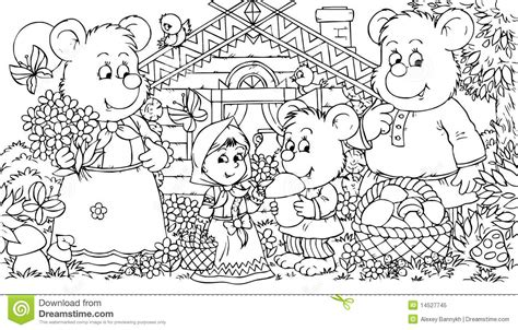 three bears and little royalty free stock photo