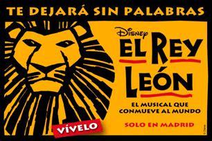 entradas al rey leon madrid entradas musical el rey le 211 n