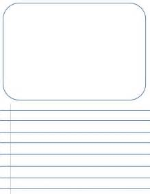 writing templates for 3rd grade 2nd grade blank writing sheets penmanship paperletter