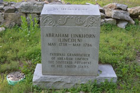 when was abraham lincoln buried file abraham linkhorn grave marker jpg wikimedia commons