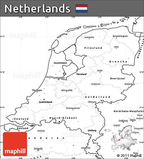netherlands map blank free blank simple map of netherlands