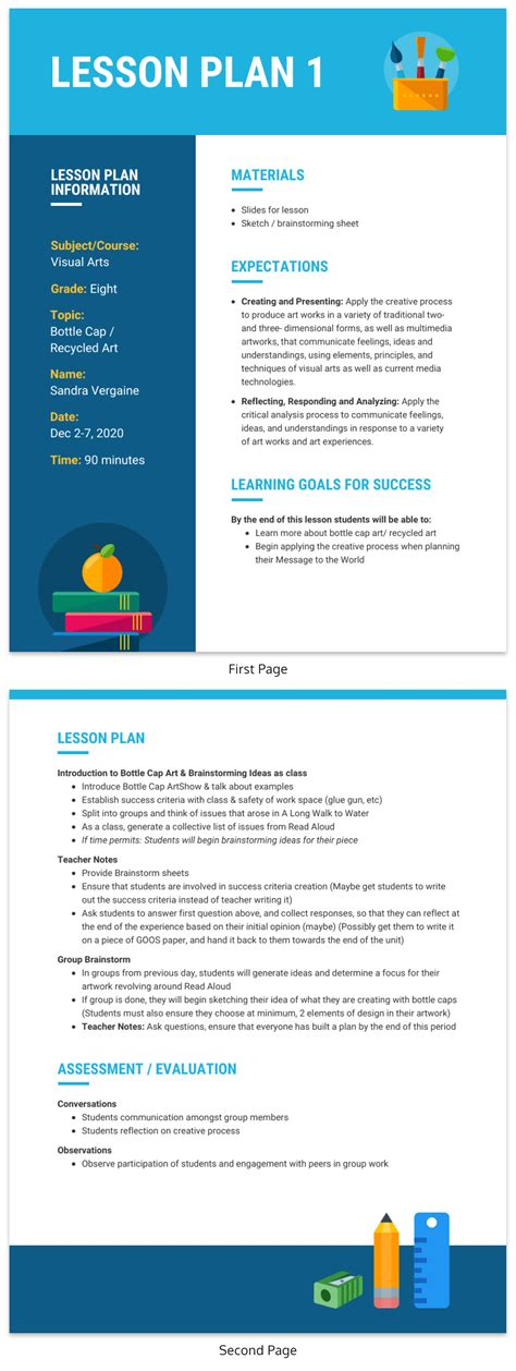 10 Types Of Visual Aids For Learning Teaching Aid Templates Venngage Aid Lesson Plan Template