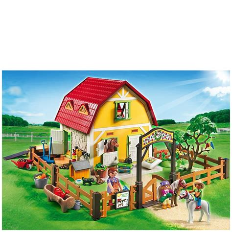 playmobil farm childrens pony farm 5222 toys