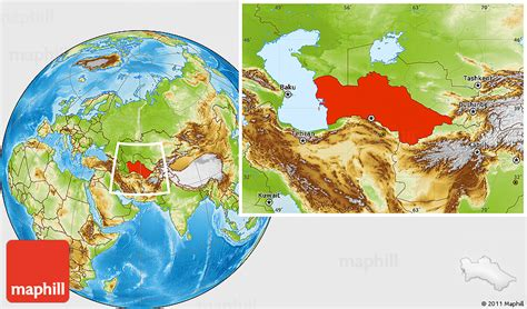 physical map of turkmenistan physical location map of turkmenistan