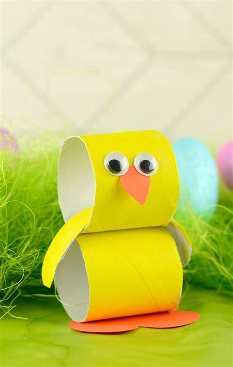 easter projects paper roll chick easter crafts for kids easy peasy and fun