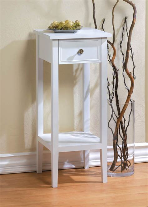 small  white sofa  side bedside table nightstand