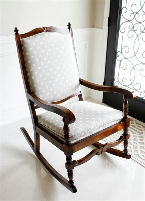 Padded Rocking Chairs For Nursery Am Dolce Vita Rocking Chair Makeover Diy