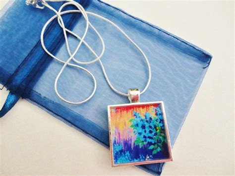 acrylic paint jewelry shades of beautiful resin necklace ooak abstract acrylic