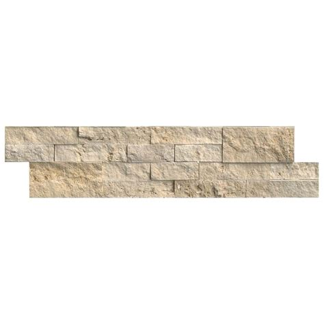 ms international tuscany ivory ledger panel 6 in x 24 in natural travertine wall tile 10