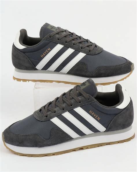 adidas haven adidas haven trainers grey white gum originals runner