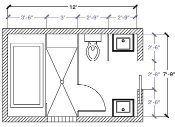 kohler bathroom floor plans 12 x 7 bathroom kohler canada 7 9 quot x 12 floor plan