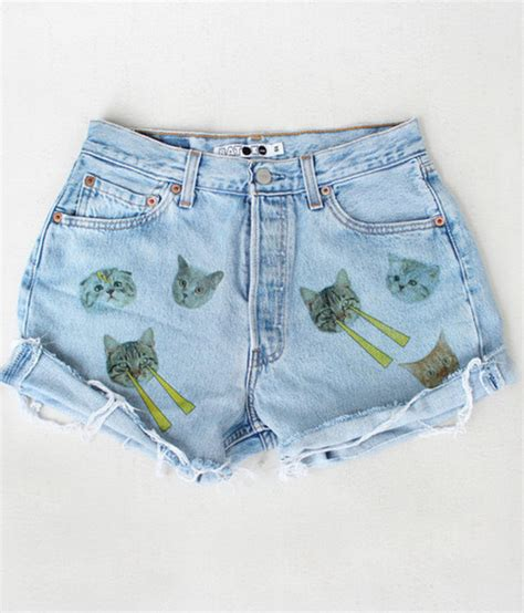 Cat Shorts by Shorts Cats Cats High Waisted Shorts Future