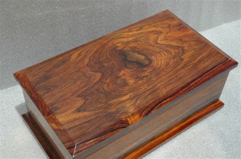 Handcrafted Box - handcrafted cocobolo keepsake box