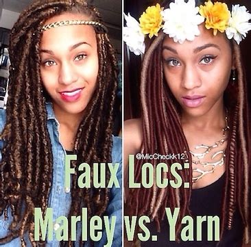 what kind of hair use for faux locs marley v yarn faux locs which is best voice of hair