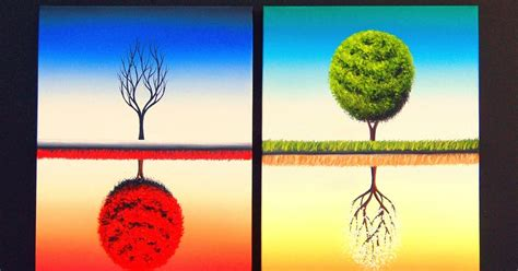 The 2 Seasons The bing art by rachel bingaman large wall art four seasons