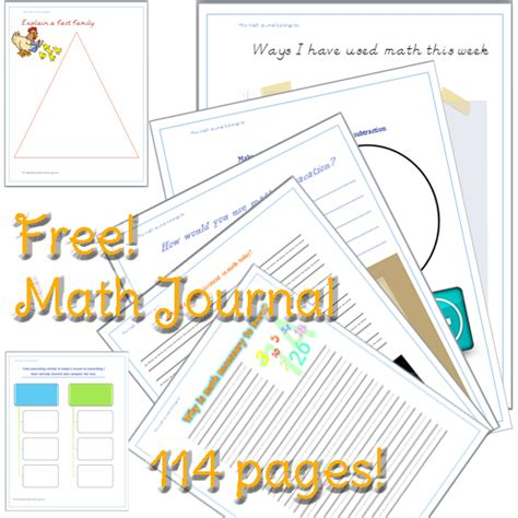 printable journal cover page 4 best images of my math journal printable math journal
