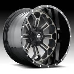 Truck Wheels Fuel D268 Crush 2 Pc Machined Black Ddt Custom Truck