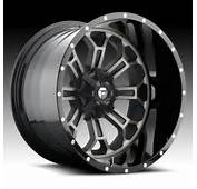 Fuel D268 Crush 2 PC Machined Black DDT Custom Truck Wheels Rims
