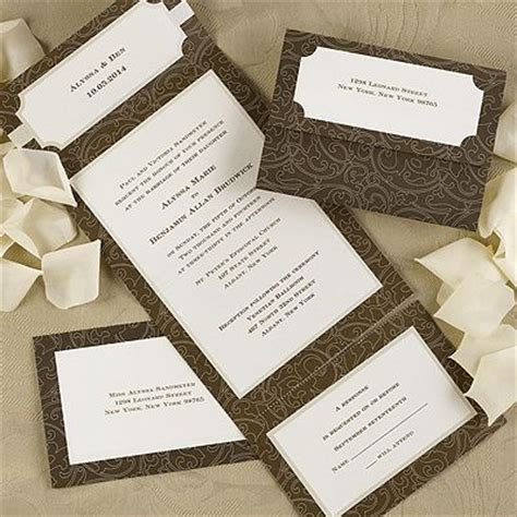 wedding invitations with detachable rsvp cards detachable rsvp slip wedding crafts