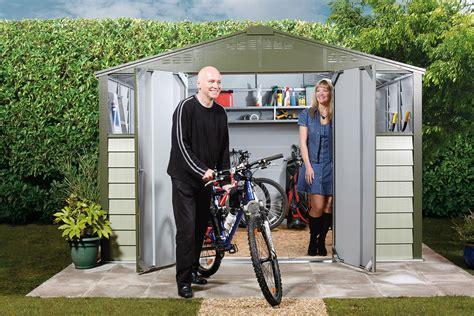Trimetals Bike Shed by Titan 108 Garden Shed Metal Sheds From Trimetals
