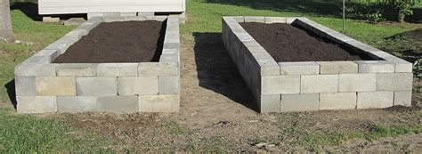 Cinder Block Raised Bed by Concrete Block Planters And Raised Beds Improvised