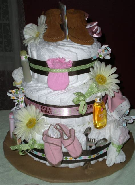 How To Make A Cake From Diapers For Baby Shower by Saltbox Treasures How To Make A Baby Cake