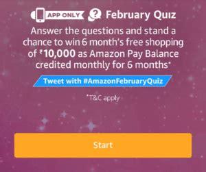 amazon quiz answer today amazon february quiz answers today 24 feb 18 winners list