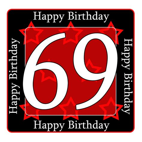 Ideas For Birthday Decorations At Home 69 happy birthday party supplies 69th birthday coaster