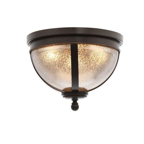 Mercury Ceiling Light Sea Gull Lighting Sfera 3 Light Autumn Bronze Ceiling Flushmount With Mercury Glass 7510403 715