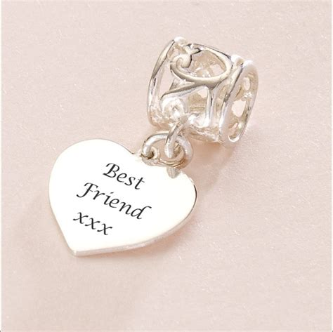 best friend charm sterling silver fits pandora hrthrt bfr