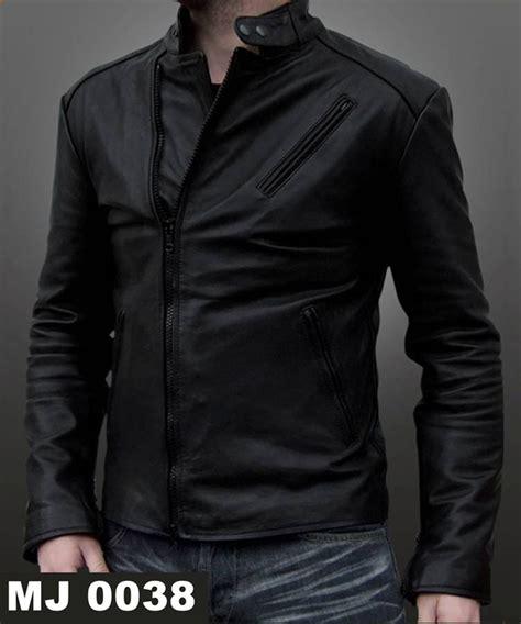 Harga Jaket Kulit Hitam Pria jaket pria mj 0038 warna hitam