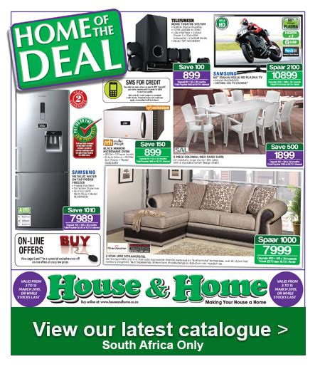 house and home weekly specials catalogue specials