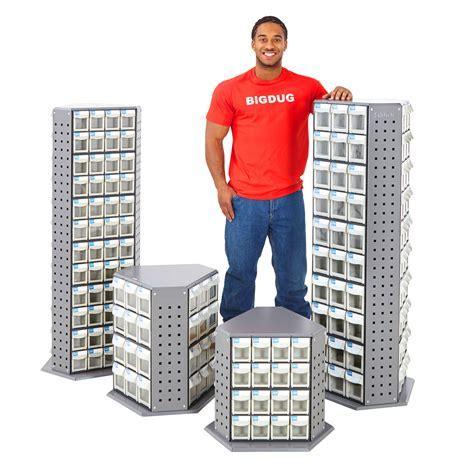 Tilt Bin Tower Parts Bins Storage Bin Revolving Tool Box