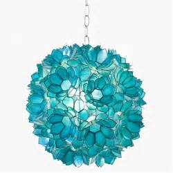Capiz Shell Decor Turquoise Pendant Light