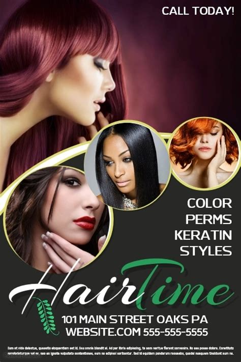 free hair salon posters and banners hair salon template postermywall