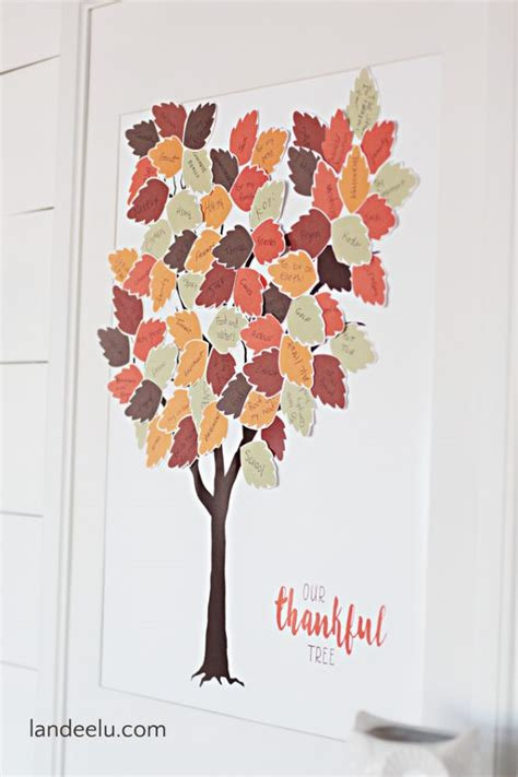 thankful tree template thankful tree printable landeelu
