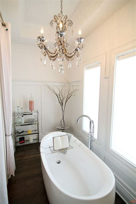 Decor Inspiration Chandeliers In The Bathroom Yes Missy Chandelier For Bathroom